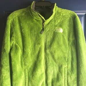 North Face - lime green jacket, size Large
